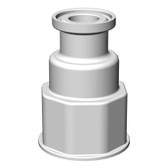 "Spigot Fitting, VersaBarb, 1 1/8"" Thread, 3/4"" Sanitary Connector"