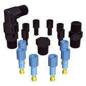 Safety Vent, Replacement Fittings, 1/8'' OD Fittings, 1/4'' Fittings Pack, EZwaste