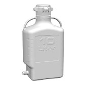 Carboy, HDPE, 10L with Spigot, VersaCap 80mm (83B) EZgrip