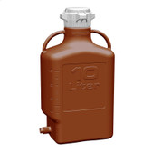 Carboy, Amber HDPE, 10L with Spigot, VersaCap 80mm (83B) EZgrip