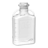 Carboy, Clear PETG, 10L, VersaCap 80mm (83B) EZgrip