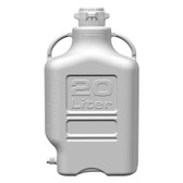 Carboy, HDPE, 20L with Spigot, VersaCap 80mm (83B) EZgrip