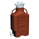 Carboy, Amber HDPE, 20L with Spigot, VersaCap 120mm, EZgrip