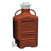 Carboy, Amber HDPE, 40L with Spigot, VersaCap 120mm, EZgrip