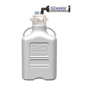 EZwaste System, 20L Bottle, 83B VersaCap, 6 Ports (1/8 OD) Carbon Filter