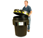 UltraTech 0570 Overpack Plus Drum Containment, 95 gal, Black, Recycled