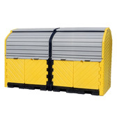 UltraTech Hard Top 8-Drum Storage Building, Poly, Choose Drain