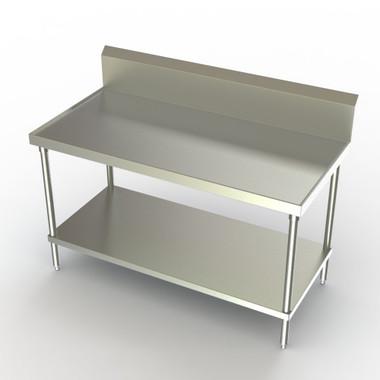 aero 1tgb 3024 stainless steel table w shelf 30 d 10