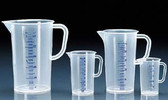Graduated Pitcher, PP, Molded/Printed, 100mL, case/24