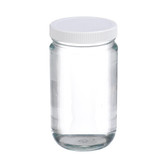 Certified Clean 32oz Clear Glass Sample Jar, case/12