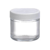 Certified Clean 2oz Clear Glass Sample Jar, case/24