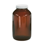 Certified Clean 1250mL Amber Glass Jar, Preserved, 2mL, Hydrochloric Acid, case/6