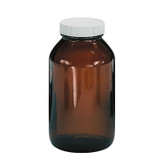Certified Clean 32oz Amber Glass Sample Jar, case/12