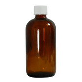 Certified Clean 32oz Boston Round, Amber Glass, case/12