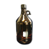 4L Amber Glass Jugs, Safety Coated, case/4
