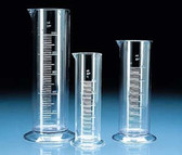 Low Form Graduated Cylinder, SAN, Molded Graduations, 500mL, case/6
