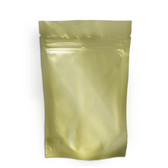 "Heat-Seal Bags, 4.5 mil Stand Up Gold-Foil Zipper Bag, 5 x 8"", case/500"