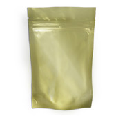"Heat-Seal Bags, 4.5 mil Stand Up Gold-Foil Zipper Bag, 6 x 10"", case/500"