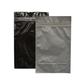 "Heat-Seal Bags, 4.5 mil Stand Up Black-Foil Zipper Bag, 6 x 10"", case/500"