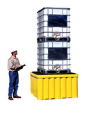UltraTech Double Stack Capacity IBC Tote Spill Pallet, 16000 lb capacity