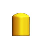 """Dome Bollard Cap, 6.625"""" OD x 6"""" L"""