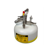 "Quick-Disconnect Disposal Safety Can, 3/8"" Tubing, 2 Gal, Polyethylene"