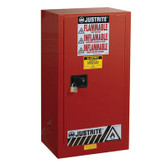 Justrite 20 gal, Safety Cabinet, Self Closing, Yellow P&I Safe Ex