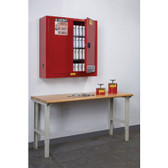 Safety Cabinet, Aero Wall Mount, 20 gal, manual, Red