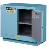 Justrite Under Fume Hood Safety Cabinet, 23 gal, Self Closing