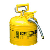 "Justrite Safety Can with 5/8"" hose, 2 gal, Type 2, Choose Color"