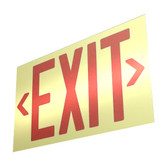 EcoGlo UL 924 Glow in the Dark EXIT Sign, Single, Unframed, 50ft Visibility