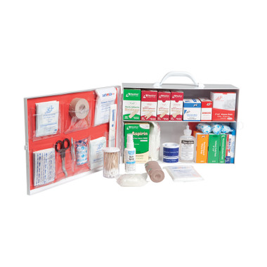 Prostat 612 Small 2-Shelf Industrial First Aid Cabinet with Liner