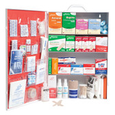 Large 4-Shelf Industrial First Aid Cabinet with Liner