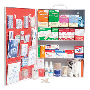 Prostat 614 Large 4-Shelf Industrial First Aid Cabinet with Liner
