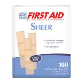"American White Cross Sheer 3/8""x1.5"" Adhesive Bandage, Case/24"
