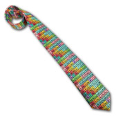 Periodic Table Necktie, Rainbow Microfiber