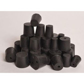 Natural Rubber Stoppers, Two Holes, 1 Lb box, Choose Size