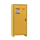 Justrite EN Flammable Safety Cabinet, 30-Minute Rated, 30 gal, 3 shelf, Yellow