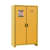 Justrite EN Flammable Safety Cabinet, 30-Minute Rated, 45 gal, 3 shelf, Yellow