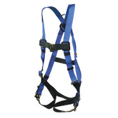 Fall Safety Harness, Adjustable Chest Strap, Grommet Leg Straps, Choose Size