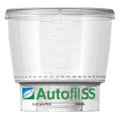 Autofil SS, Funnel Only, 500mL, 0.2um High Flow PES Bottle Top Filter, case/12