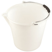 Bucket with Spout, Graduated, LDPE, 11.8 x 11in, 12L