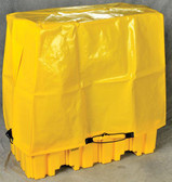 Tarp Drum Cover for 2-Drum Pallets, Yellow