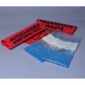 Autoclave Biohazard Disposable Bags, Marking Area, Choose Color and Size, Case/200