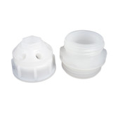 "7-Port Cap, 2"" Coarse Thread Buttress for Drums, Complete Kit"