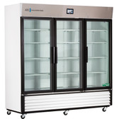TempLog Premier Laboratory Triple Swing Glass Door Refrigerator 72 Cu. Ft.