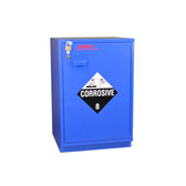"SciMatCo SC1423 23"" Partially Lined Under-the-Counter Right Hinge Corrosive Cabinet - Blue"