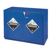 """SciMatCo SC1624 23"""" Fully Lined Left Hinge Under-the-Counter Corrosive Cabinet - Blue"""