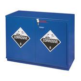 "SciMatCo SC1436 35"" Partially Lined Under-the-Counter Corrosive Cabinet - Blue"