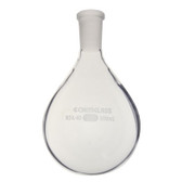 Chemglass Glass Recovery Flask, Heavy Wall Single Neck, 14/20 OJ, 25mL